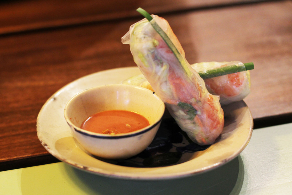 Summer Rolls at District Mot, a Vietnamese restaurant, in Berlin