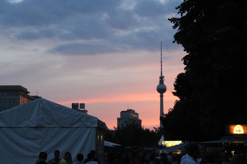Sunset at the International Berlin Beer Festival (Internationales Berliner Bierfestival)