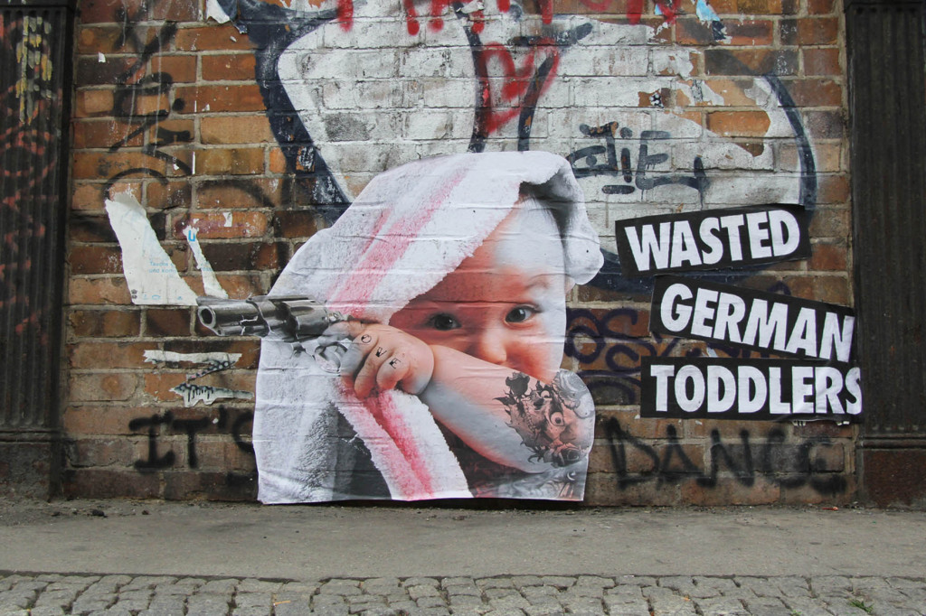 WASTED GERMAN TODDLERS - Street Art by FLOCKE//ART Berlin
