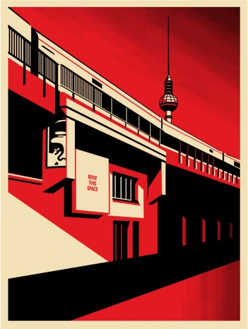 Berlin Tower - print by Shepard Fairey