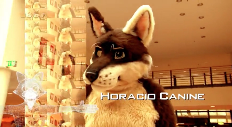 Horacio Canine in CSI Berlin - a crime drama for Furries and advert for Eurofurence 20