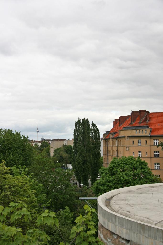A View Over Schwerbelastungskörper to Mitte and the Fernsehturm in Berlin