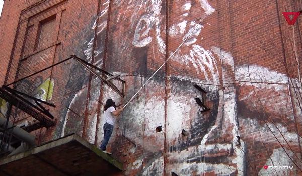 ALANIZ Painting at Bärenquell Brauerei in Berlin - still from Inside the Mind of ALANIZ, Berlin's Banksy by Vocativ