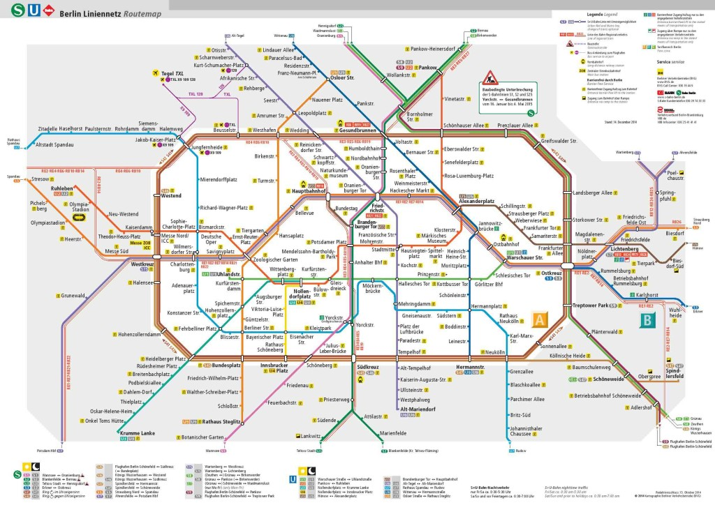 Berlin Transport Map - BVG