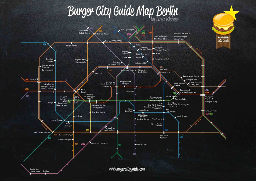 Burger City Guide Map Berlin