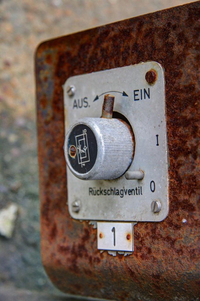 The Control Panel of a Rusting Pump at the Schwerbelastungskörper in Berlin