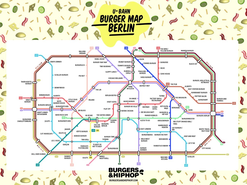 U-Bahn Burger Map Berlin - Burgers and Hip Hop