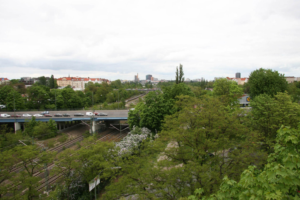 The View Towards Potsdamer Plat From the Schwerbelastungskörper in Berlin