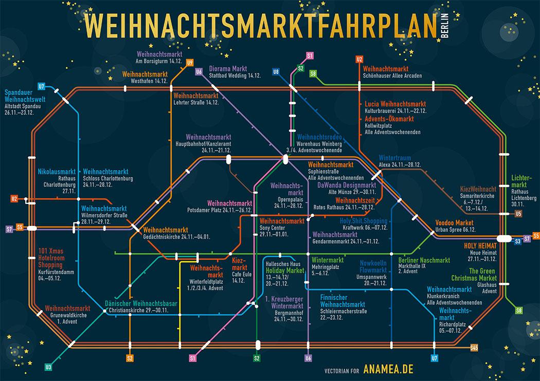 Berlin Christmas Markets Map Berlin Maps: Bars, Burgers and Christmas Markets   Berlin Love Berlin Christmas Markets Map