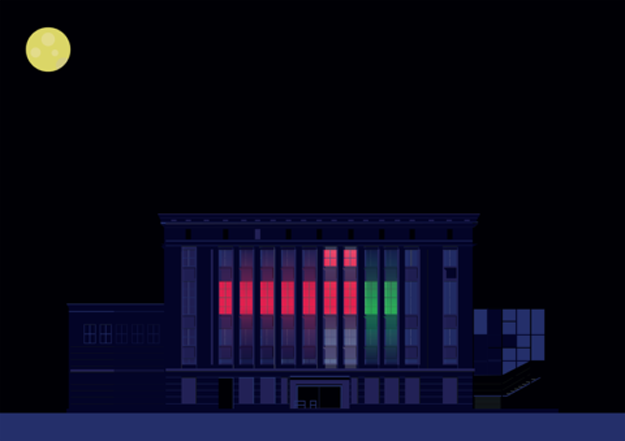 Berghain by Night Berlin Illustration by Pablo Benito
