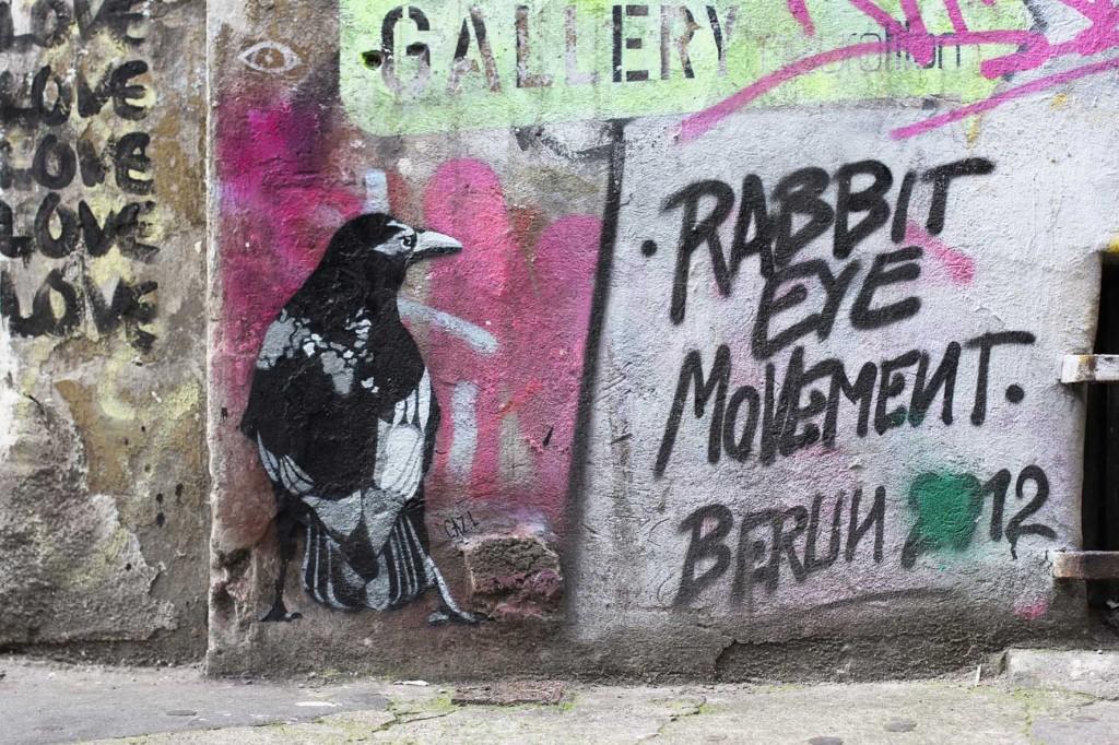Crow - Street Art by CAZ.L in Berlin