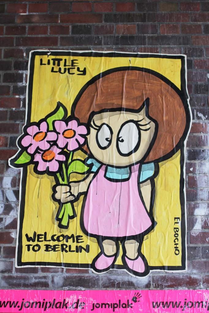 Little Lucy - Welcome to Berlin - Street Art by El Bocho in Berlin