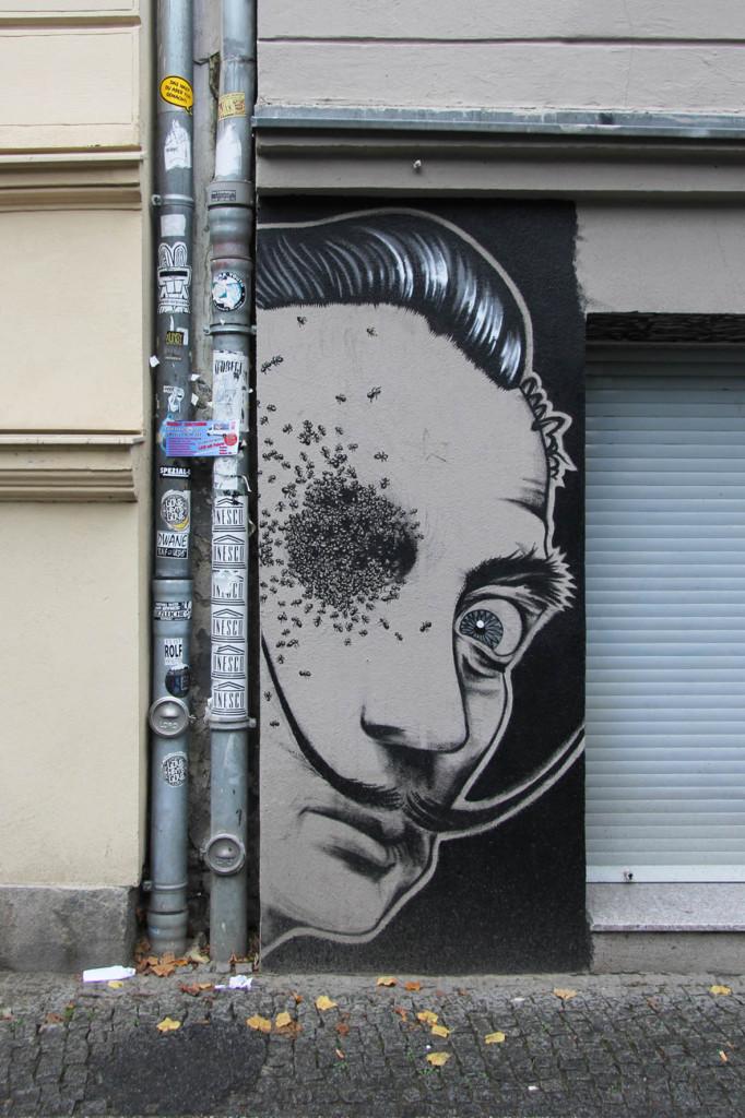 Salvador Dali - Street Art by Bobby Aviles in Berlin