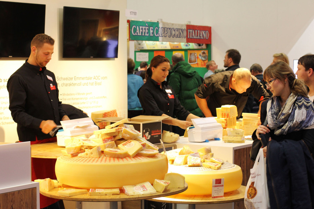Swiss Cheese Stand at Grüne Woche Berlin