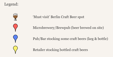 Berlin Craft Beer Map Legend