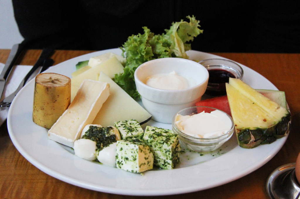 Cheese Breakfast at Cafe Feuerbach in Berlin