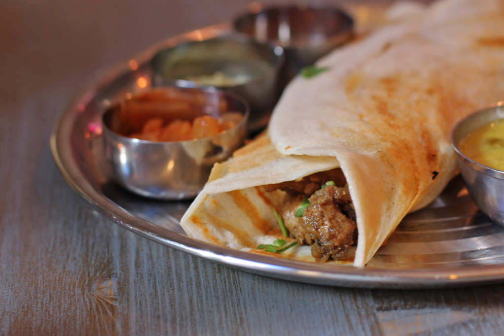 Close Up Goan Pork Dosa at Chutnify Berlin