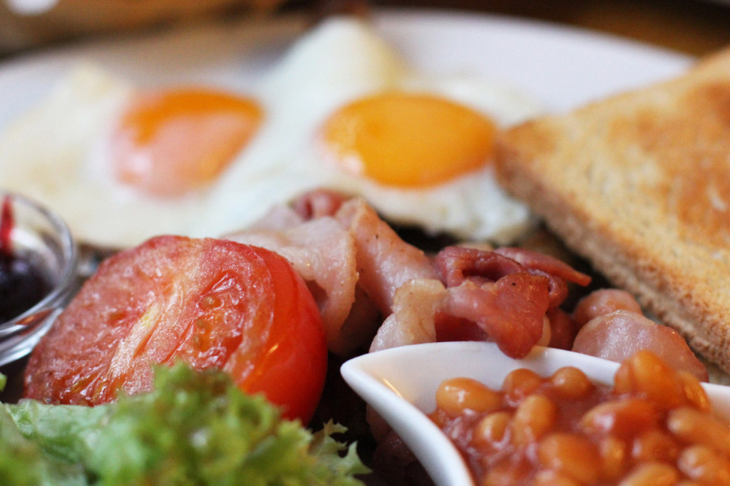 Close Up of English Breakfast at Cafe Feuerbach in Berlin