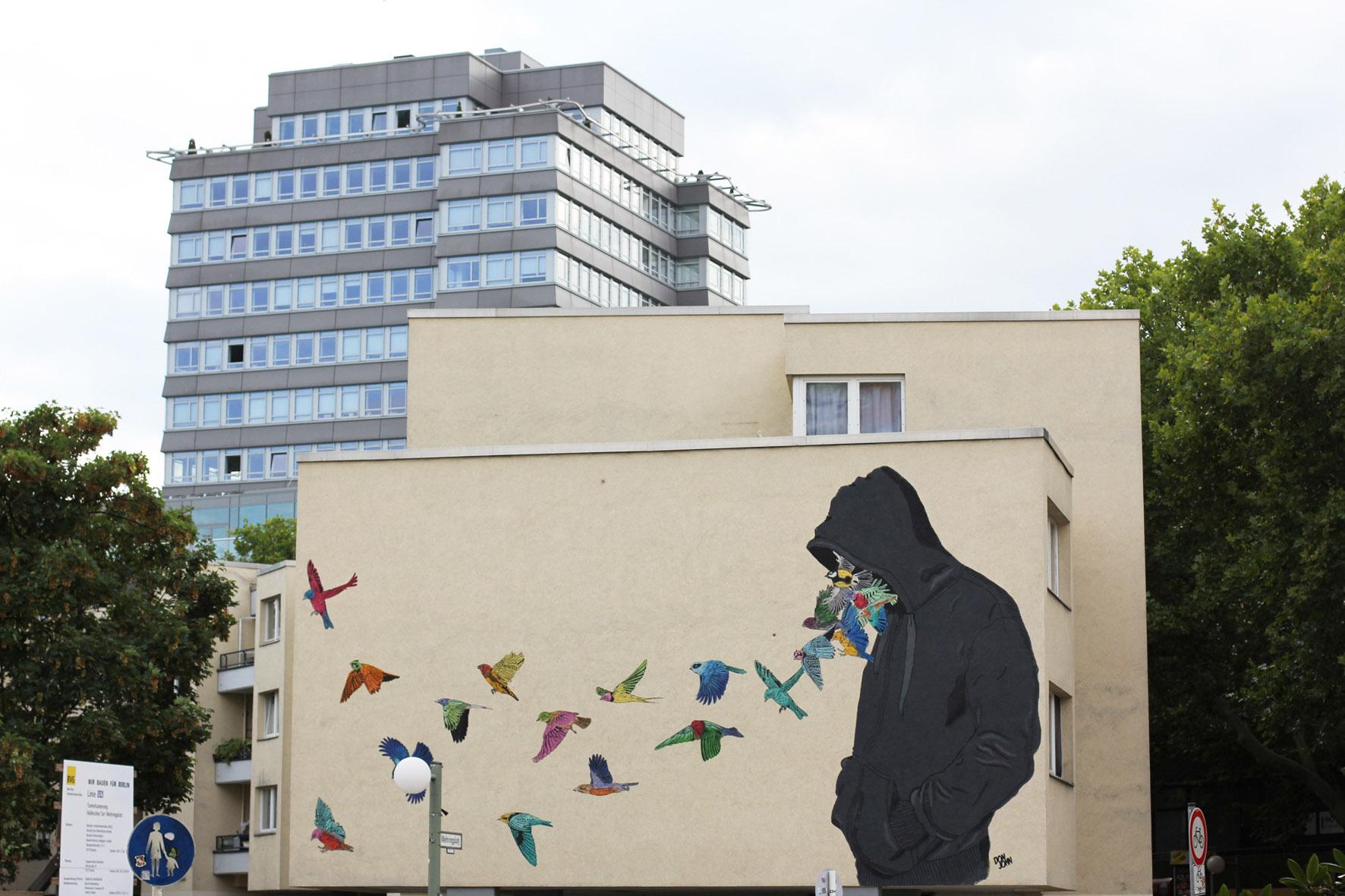 Don John Mural for Urban Nation Berlin - Berlin Love