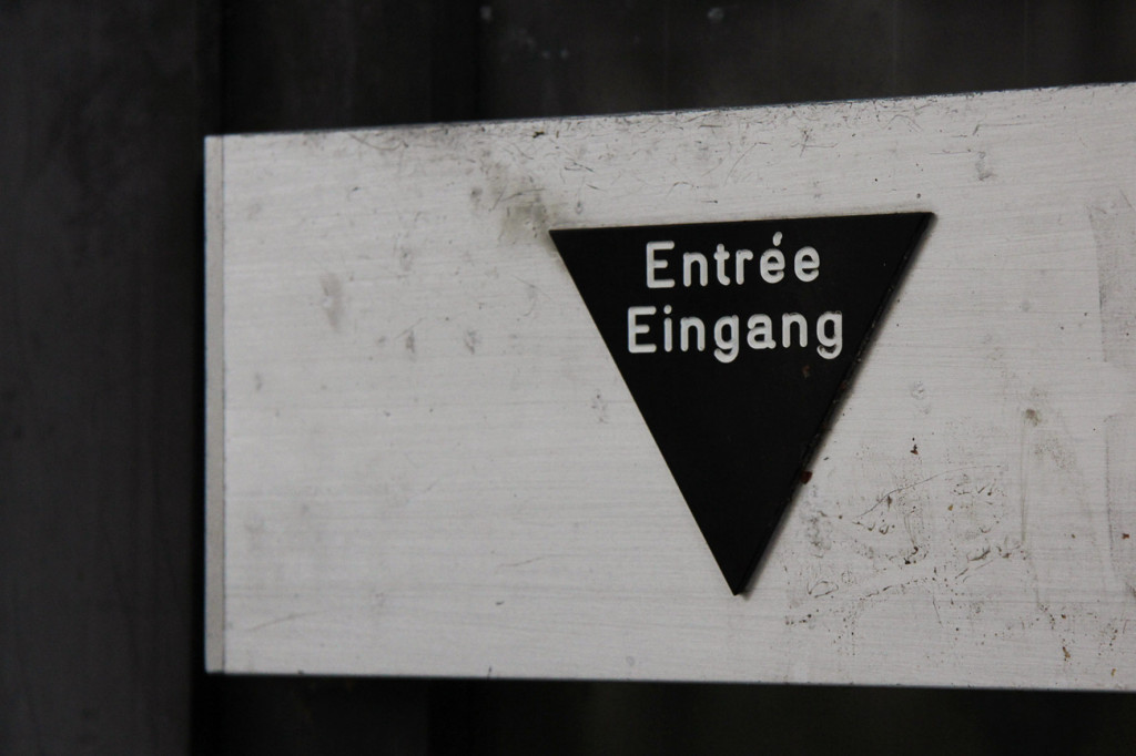 Entree Eingang at Franzosenbad Berlin - an abandoned swimming pool