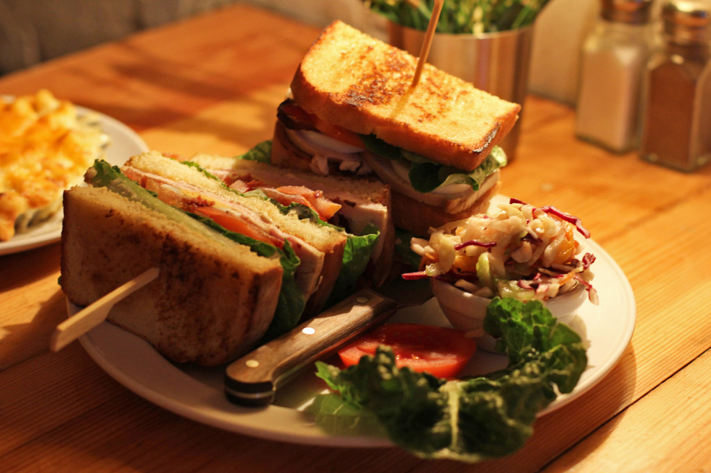 Roast Turkey Club Sandwich at MJs Foodshop Berlin
