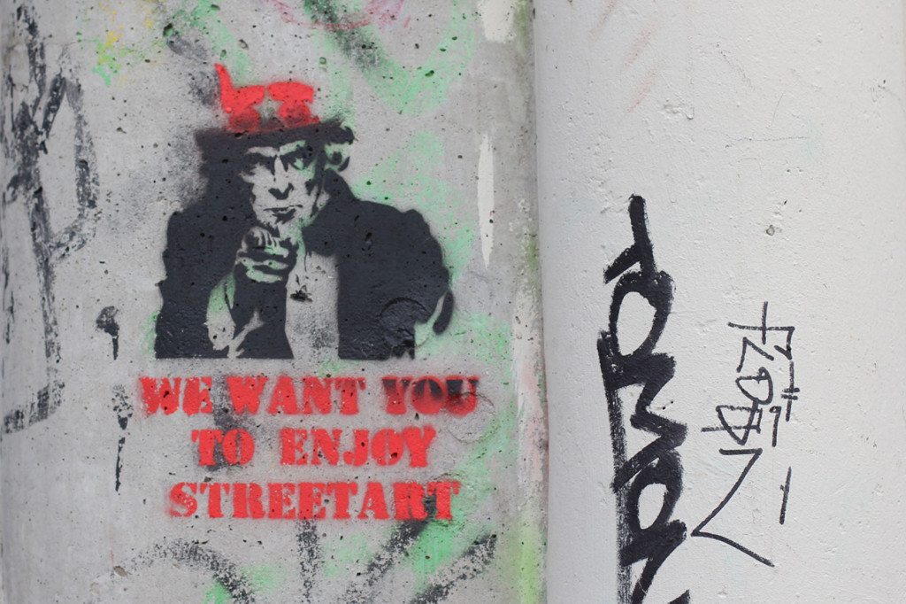 We Want You To Enjoy Street Art - Street Art by Unknown Artist in Berlin