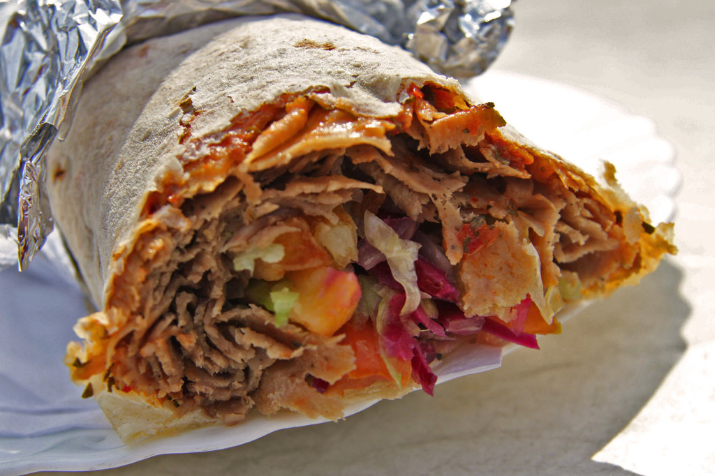 Dürüm Döner Close Up at Balli Berlin - one of my best Berlin Kebaps (best Berlin Kebabs)