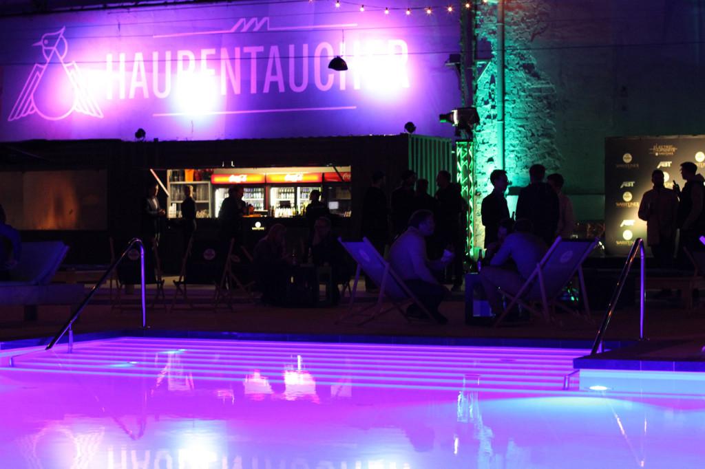 Haubentaucher at night during Warsteiner Electric Thursday Berlin