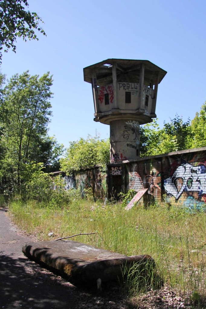An abandoned DDR-era watchtower in Berlin Weißensee