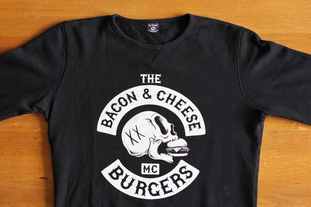 Bacon & Cheeseburgers Sweatshirt from The Dudes Factory