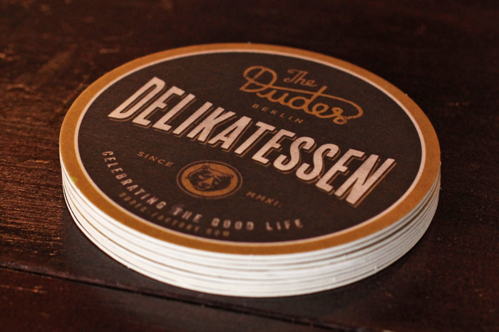 Beer Mats at Dudes Delikatessen Berlin