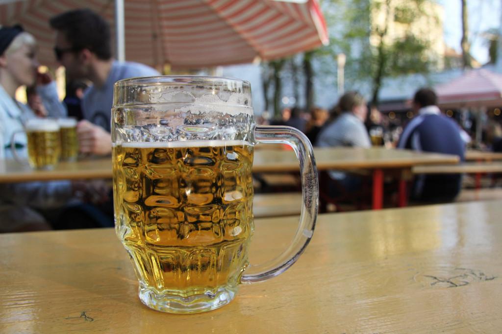 Beer at PraterGarten Beer Garden Berlin