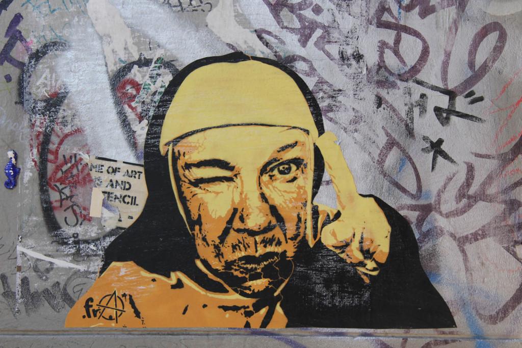 Cheeky Nun - Street Art by ESSEGEE.FRA in Berlin
