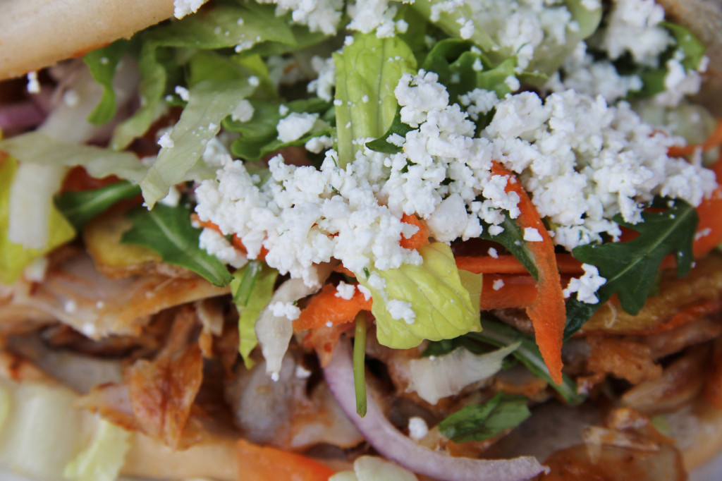 Close up of a Chicken Döner Kebap at Hisar Fresh Food in Berlin