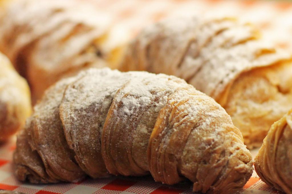 Croissants at Breakfast Market at Markthalle Neun in Berlin