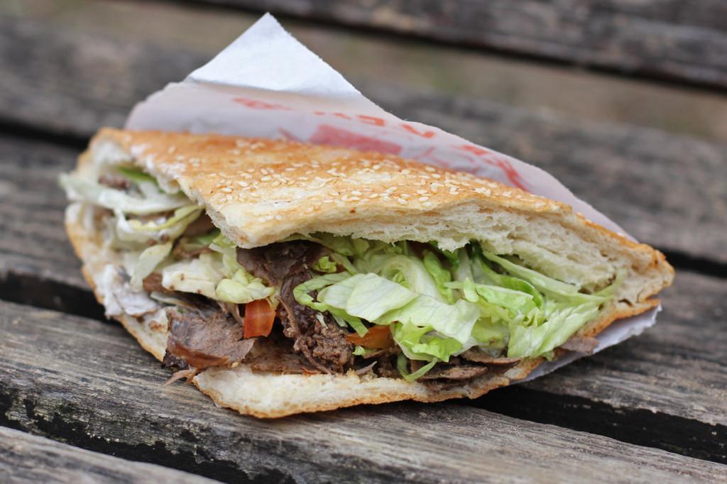 Döner Kebap im Brot (Doner Kebab) from Imren Grill in Berlin - one of my best Berlin Kebaps (best Berlin Kebabs)
