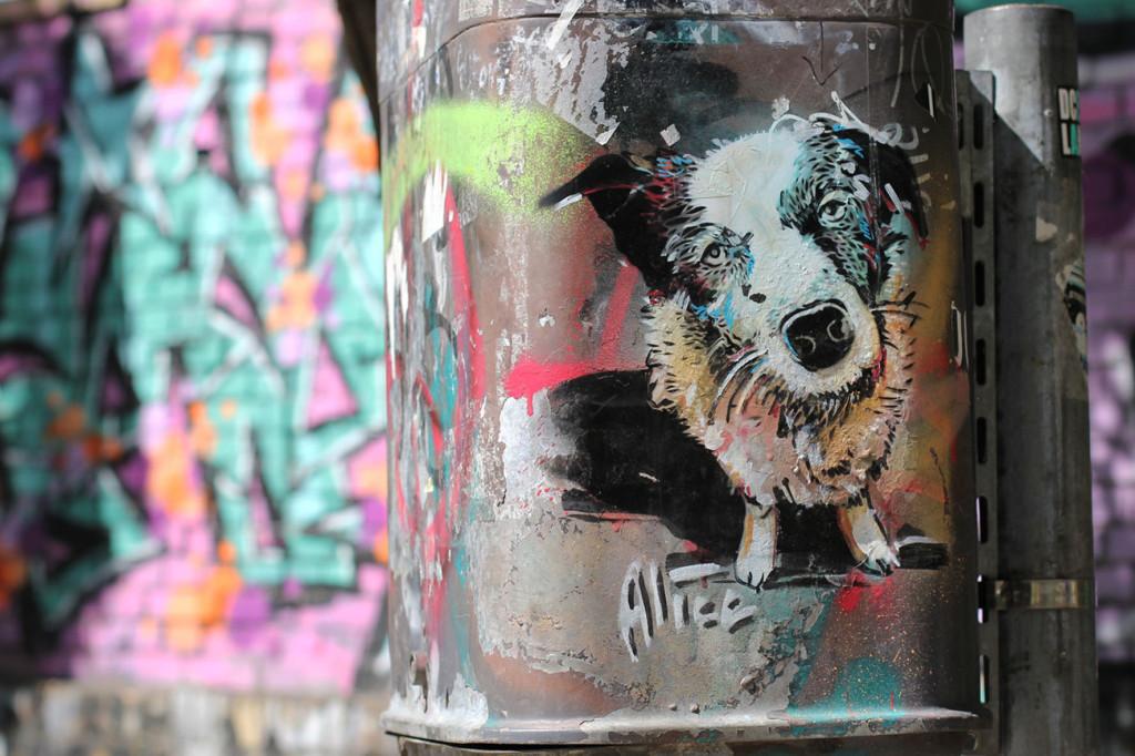 Dog Park - Street Art by Alice Pasquini in Berlin
