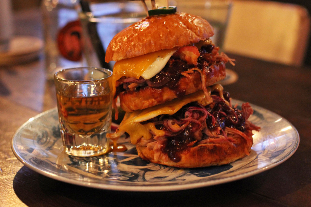 Double Hangover Pulled Pork Burger at Dudes Delikatessen Berlin