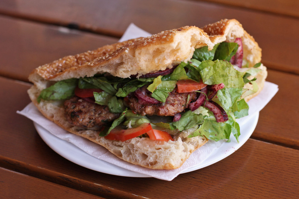 Ekmek içi Köfte (Kofte in Bread) at Yeni Adana Grillhaus in Berlin