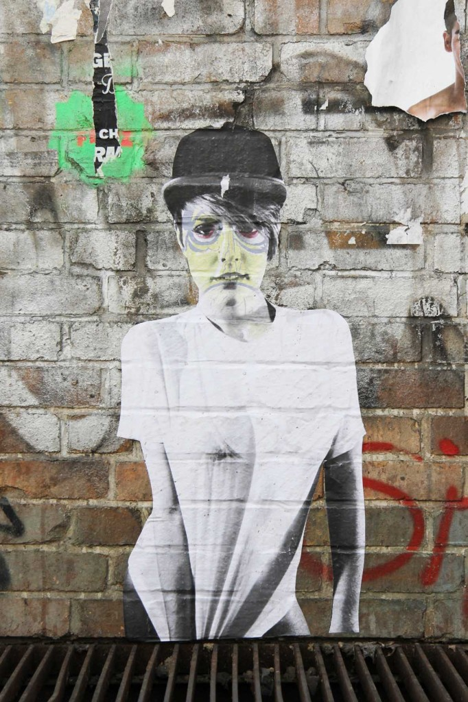 Girl in a Bowler Hat - Street Art by FLOCKE // ART in Berlin