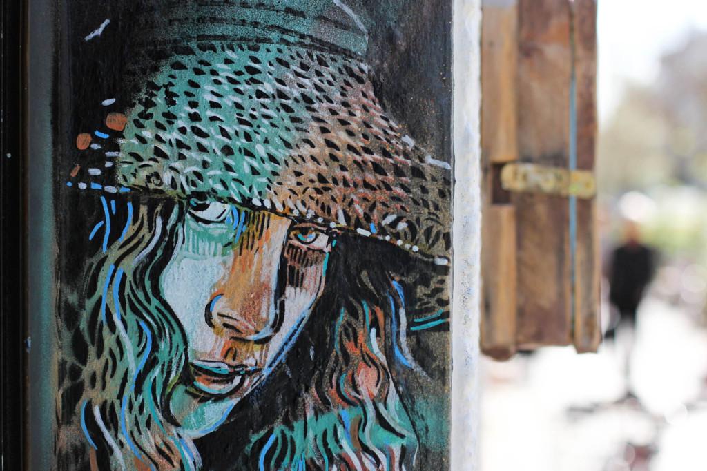 Girl in a Hat - Street Art by Alice Pasquini in Berlin