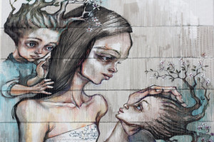 Herakut Mural in Berlin – If I knew the world ended tomorrow…