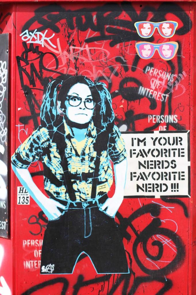 I'm Your Favorite Nerd's Favourite Nerd - Street Art by ESSEGEE.FRA in Berlin