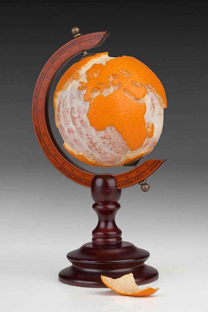 Orange Globe by Martin Roller