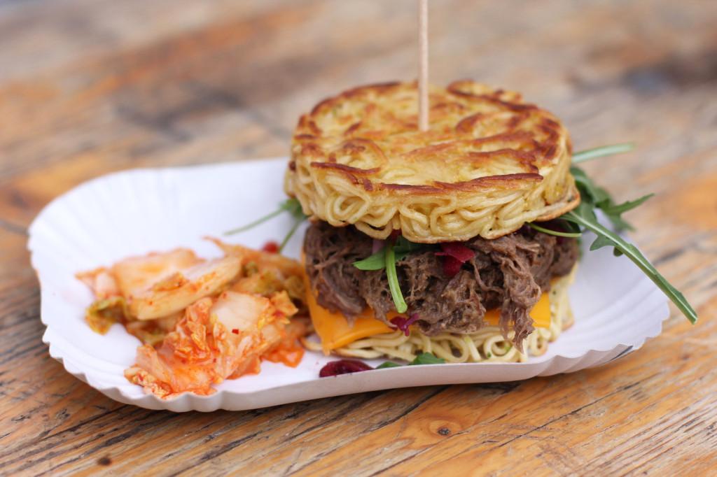 Ramen Burger at Fräulein Kimchi at Street Food auf Achse Berlin