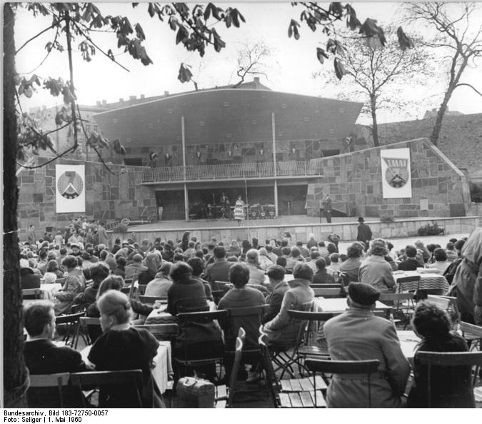 The Audience Enjoys a Performace at PraterGarten Berlin - Photo from the Bundesarchiv