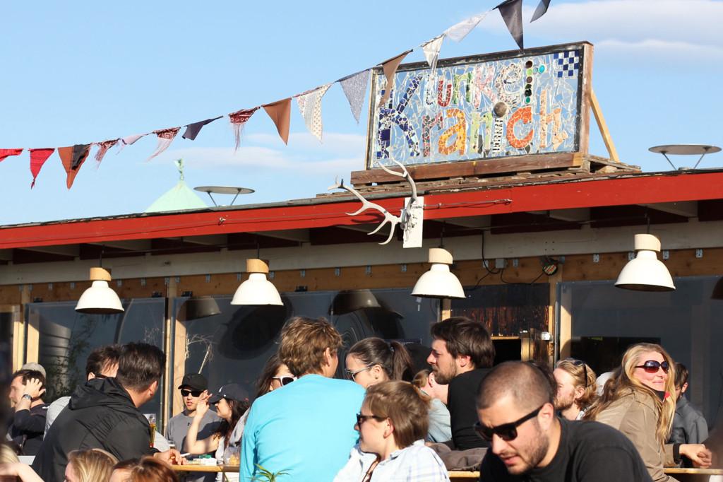 The Sign at Klunkerkranich Berlin, a bar on the rooftop of the Neukölln Arcaden Shopping Centre