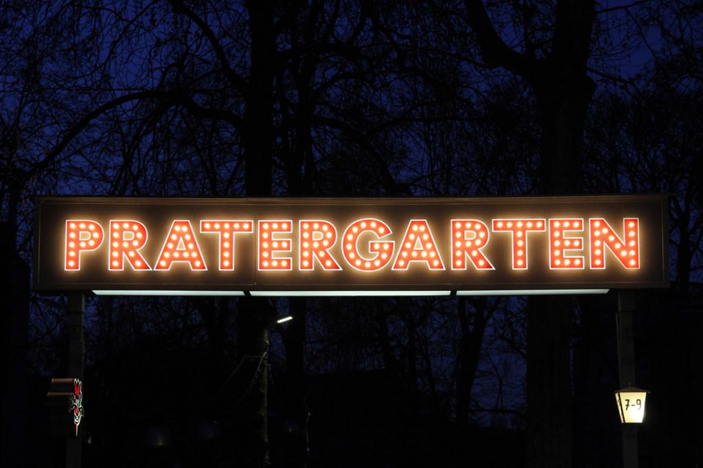The sign at PraterGarten Beer Garden Berlin