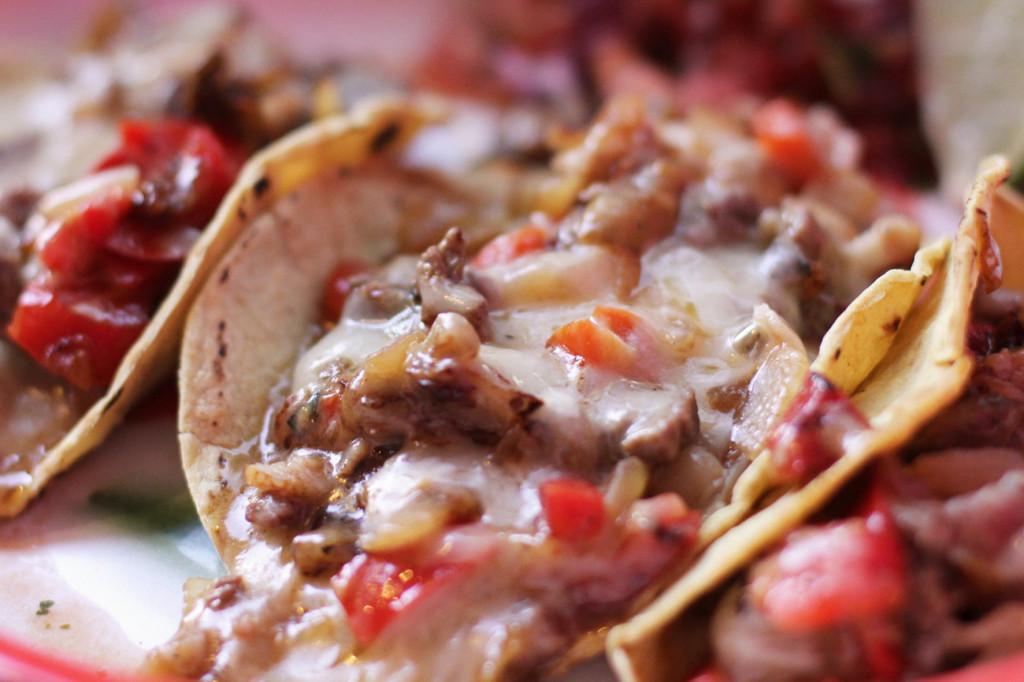 Close Up of Tacos Alambre at Maria Bonita Mexican Restaurant in Berlin