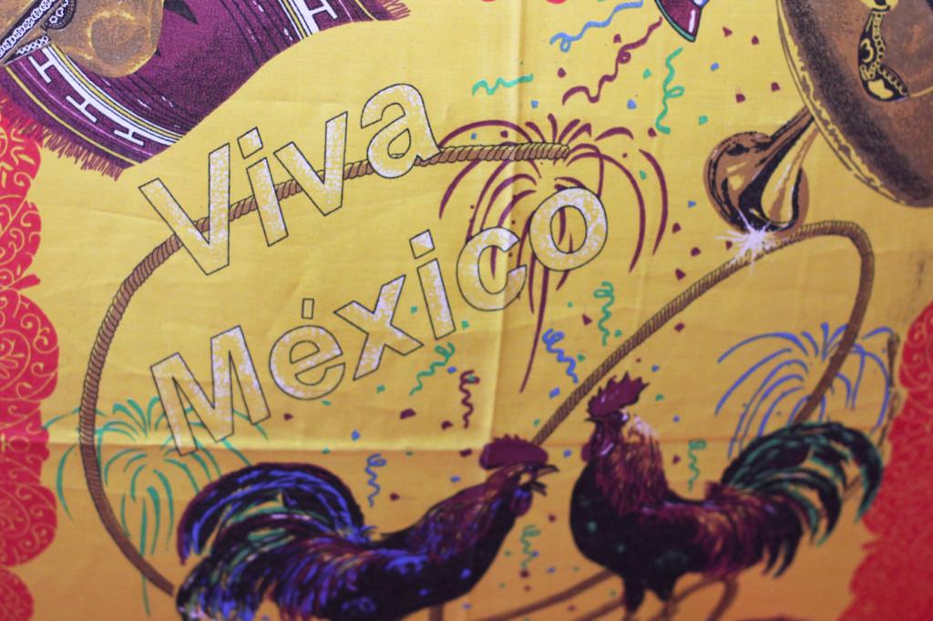 Viva Mexico Flag at Maria Bonita Mexican Restaurant in Berlin